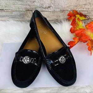 Coach Fonda Black Moc Loafer Size 7B